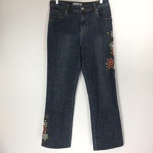Chicos Platinum 1.5 (10) Jeans Marquis Floral